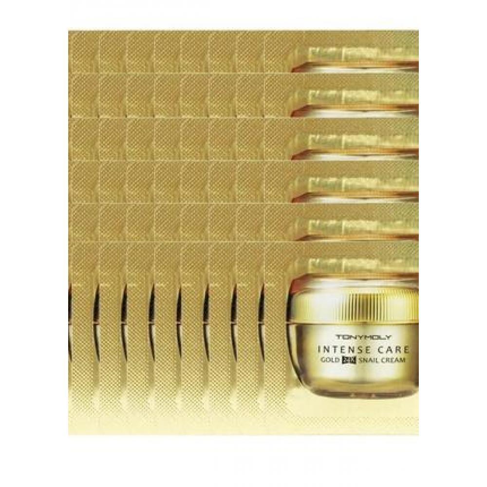 Купить Крем для лица с ферментом улитки и золотом 24К Gold 24K Snail Cream Пробник