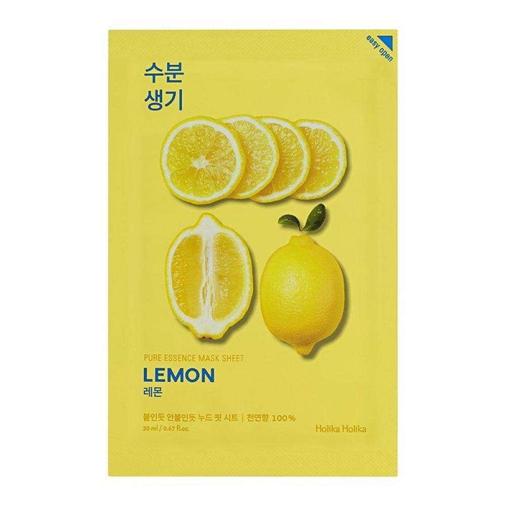 Купить Тонизирующая тканевая маска с экстрактом лимона Holika Holika Pureessencemasksheet-Lemon