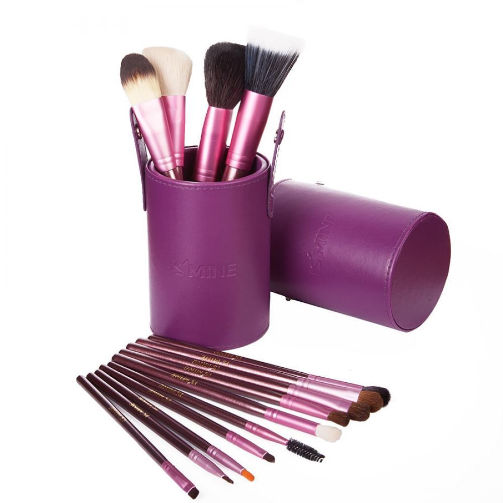 Купить Профессиональный набор кистей 13 шт - Make Up Me TUBE-13-2 Фиолетовый