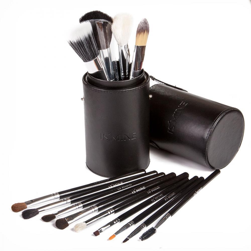 Купить Профессиональный набор кистей для макияжа 13 шт - Make Up Me TUBE-13 Черный