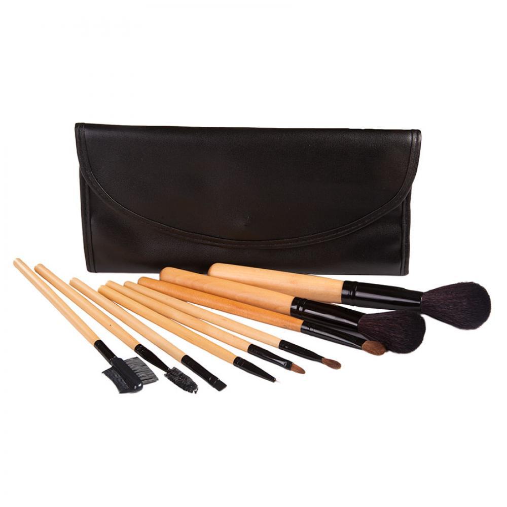 Купить Домашний набор кистей для макияжа 9 шт - Make Up Me YG-9 Черный