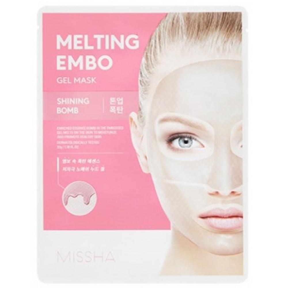 Купить Тканевая маска осветляющая разглаживающая Missha Melting Embo Gel Mask (Shining-Bomb)
