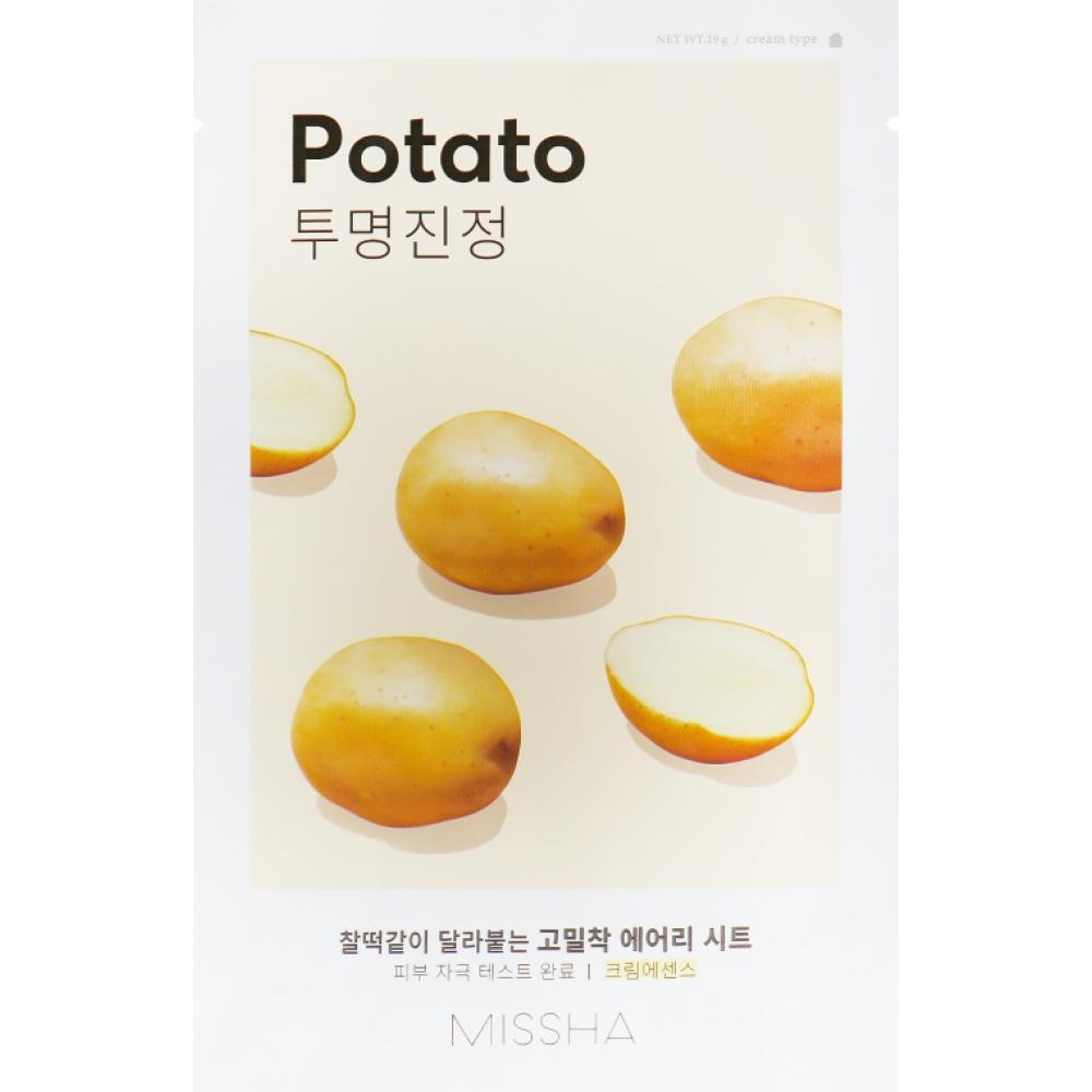 Купить Тканевая маска с картофелем увлажняющая и омолаживающая Missha Airy Fit Sheet Mask (Potato)