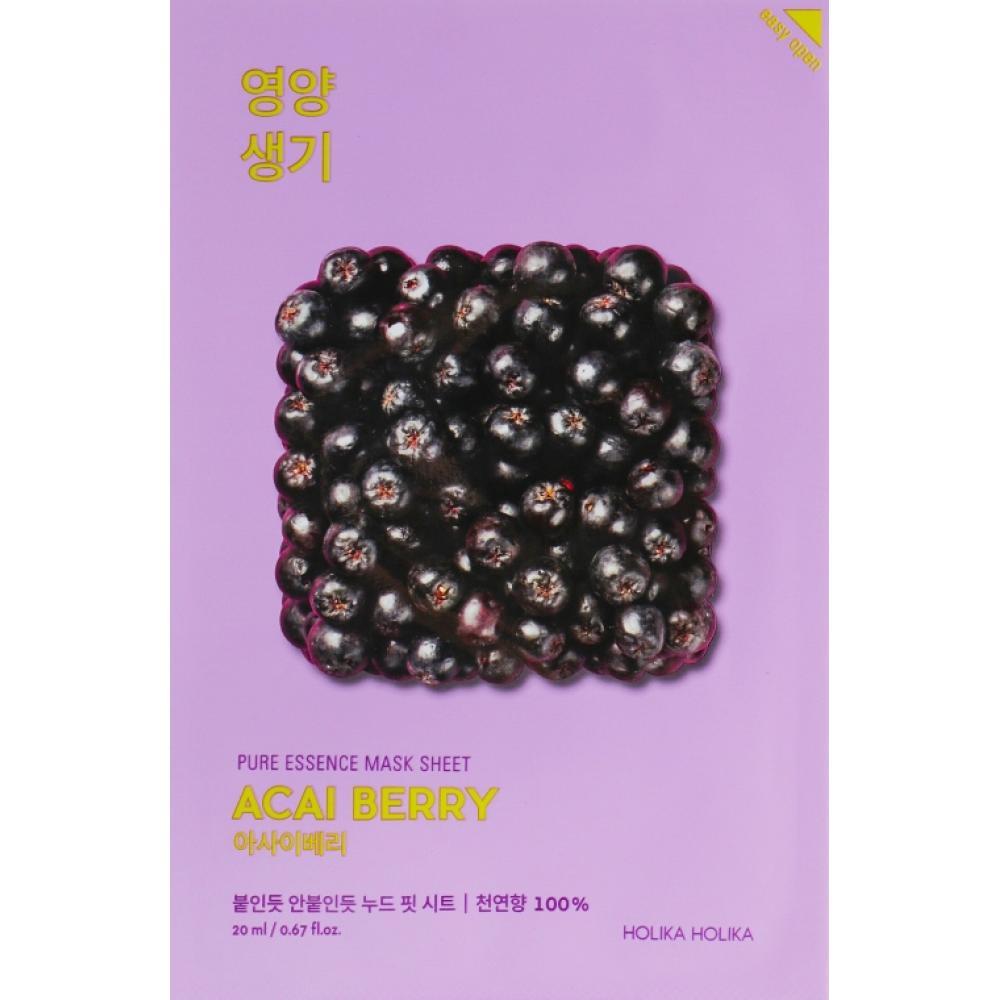 Купить Витаминизированная тканевая маска с ягодами асаи Holika Holika Pure Essence Mask Sheet-Acaiberry