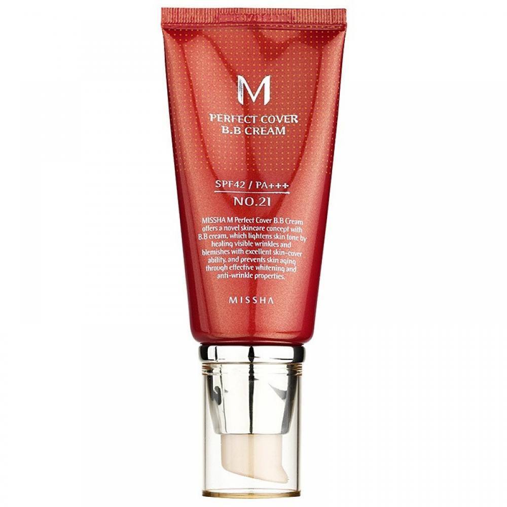 Купить ББ крем для лица - Missha Perfect Cover B.B. Cream 50ml (No.21)