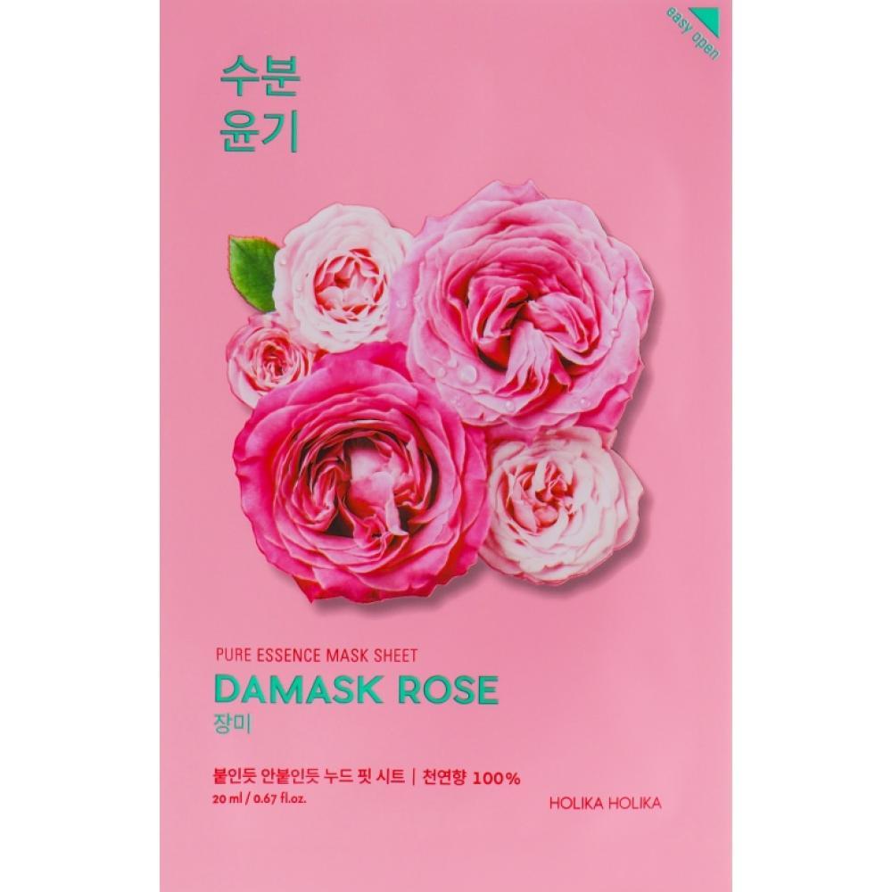 Купить Тканевая маска с маслом дамасской розы Holika Holika Pure Essence Mask Sheet-Damaskrose