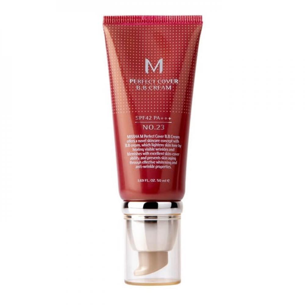 Купить ББ крем тон - MISSHA Perfect Cover BB Cream SPF42/PA+++ (No.23/Natural Beige) (50ml)