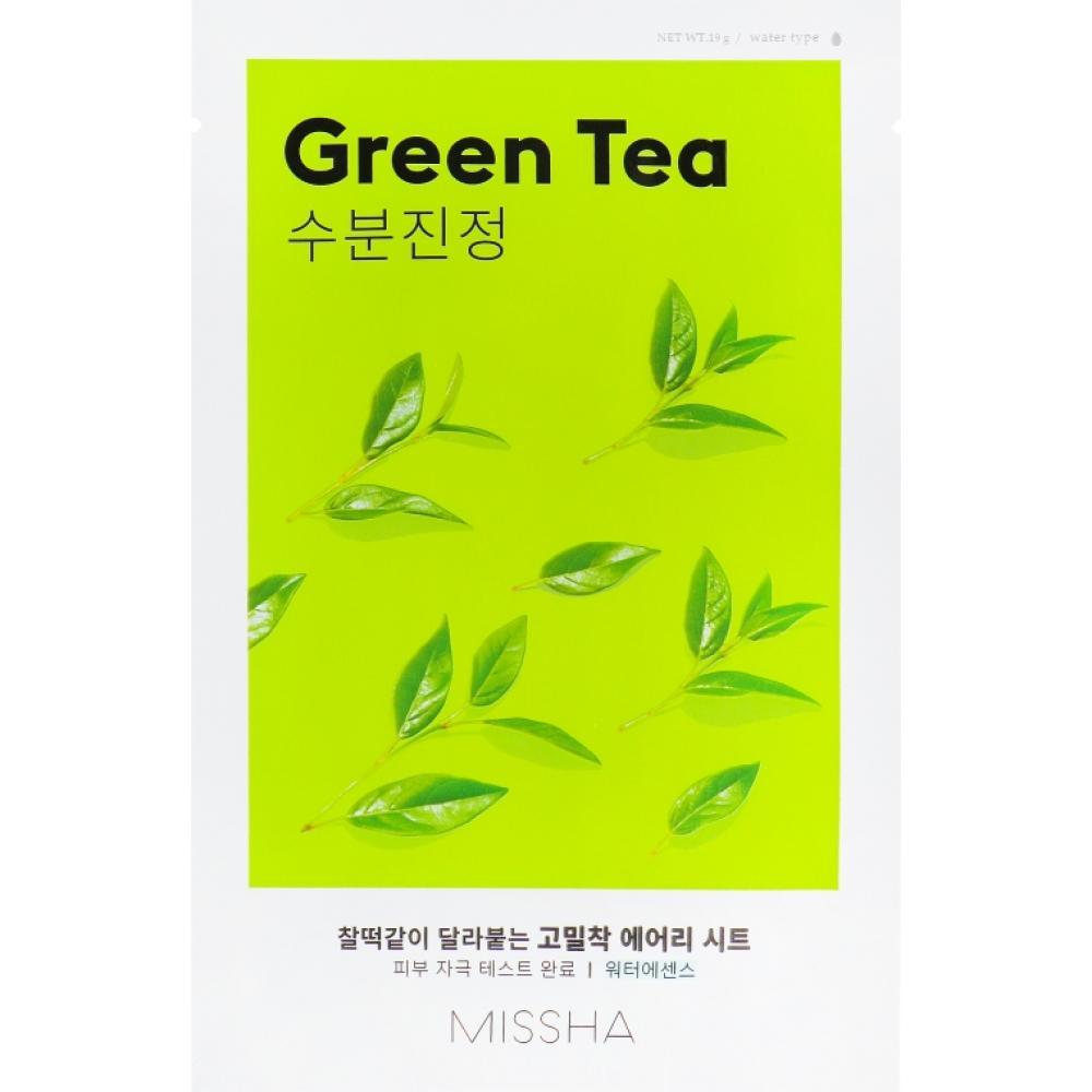 Купить Тканевая маска с зеленым чаем Missha Airy Fit Sheet Mask (Green Tea)