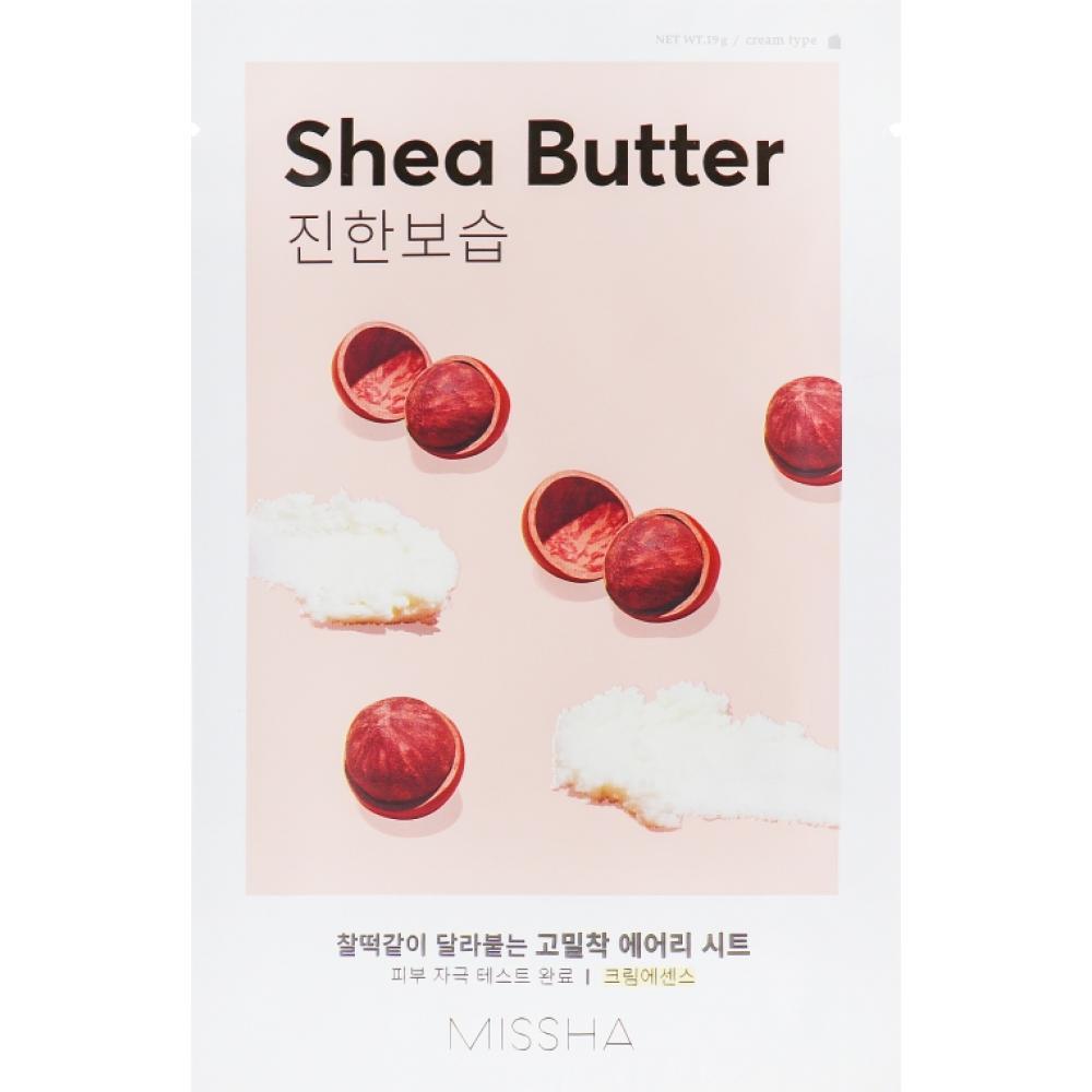 Купить Тканевая маска с маслом ши Missha Airy Fit Sheet Mask (Shea Butter)