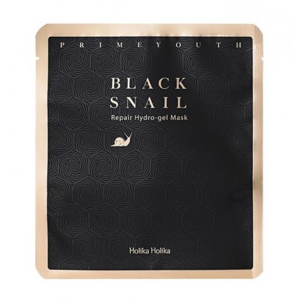 Купить Гидрогелевая маска с фильтратом чёрной улитки - Holika Holika Prime Youth Black Snail Repair Mask Sheet