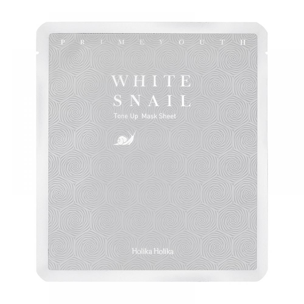Купить Тканевая маска с экстрактом белой улитки - Holika Holika Prime Youth White Snail Tone Up Mask Sheet