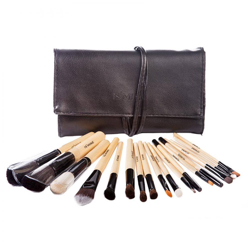 Купить Профессиональный набор кистей для макияжа 18 шт - Make Up Me ISM-18 Черный