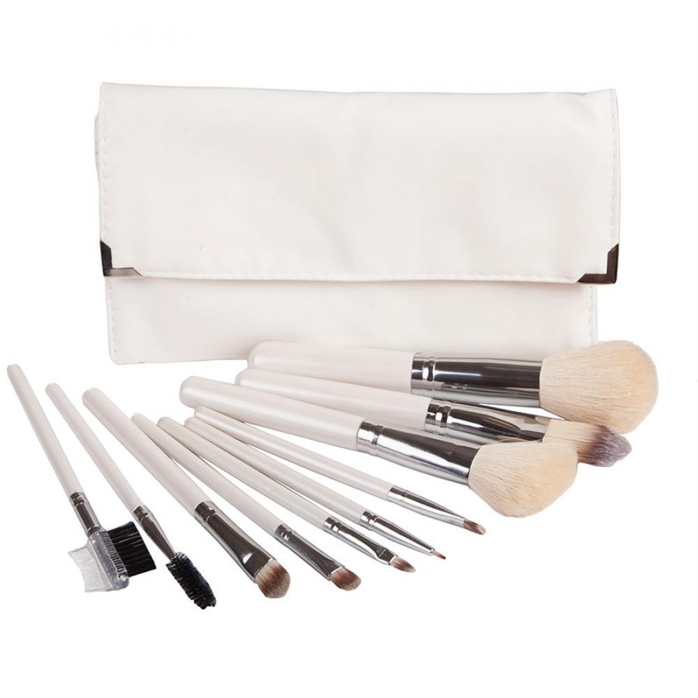 Купить Набор кистей для макияжа 10 шт - Make Up Me IZM-10 Белый