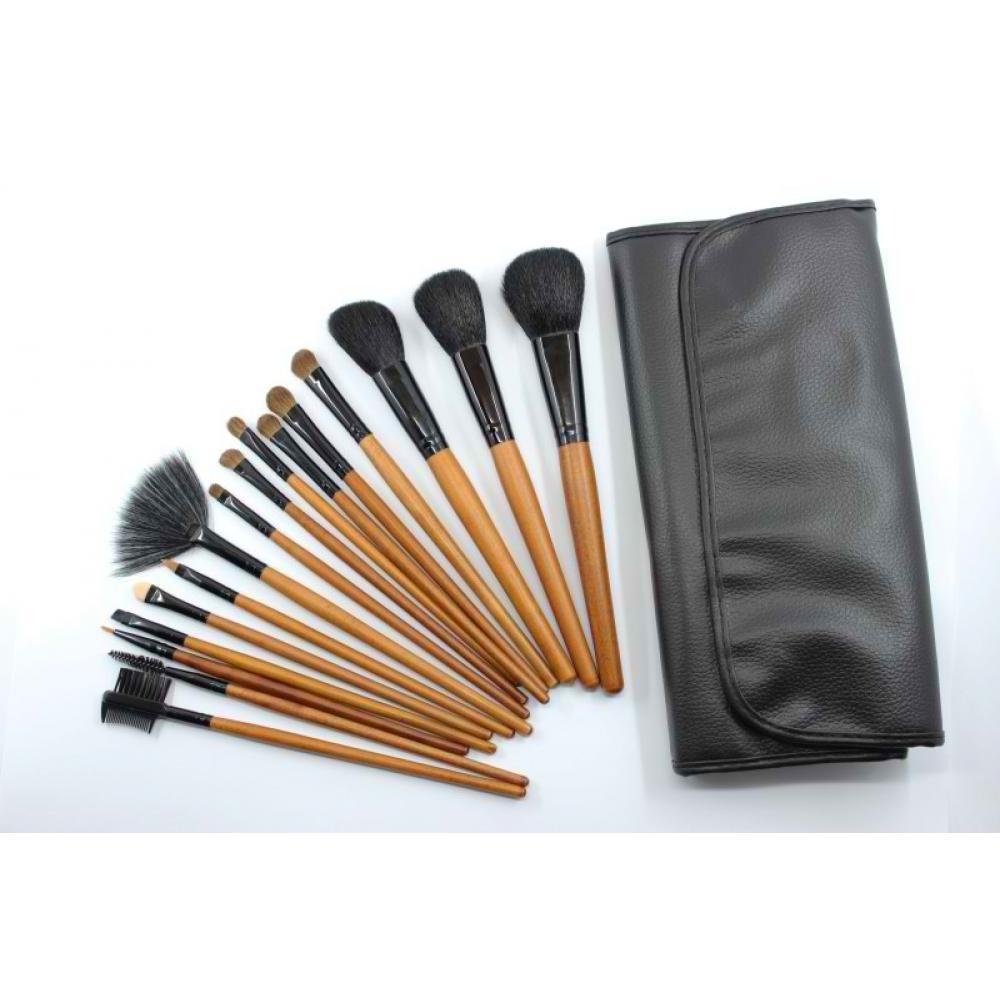 Купить Домашний набор кистей для макияжа 16 шт - Make Up Me YG-16 Черный