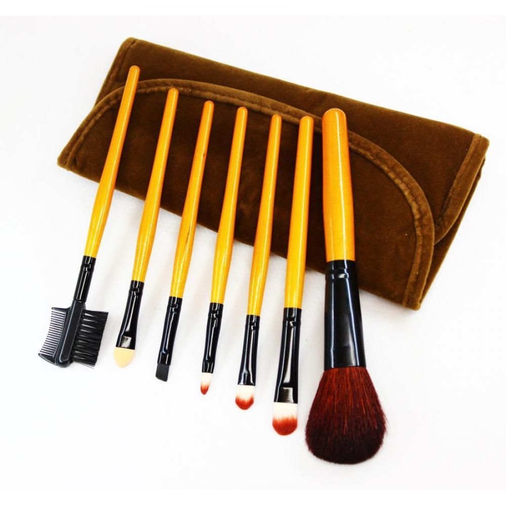 Купить Набор кистей для макияжа 7 шт - Make Up Me BRV-7 Коричневый Вельвет