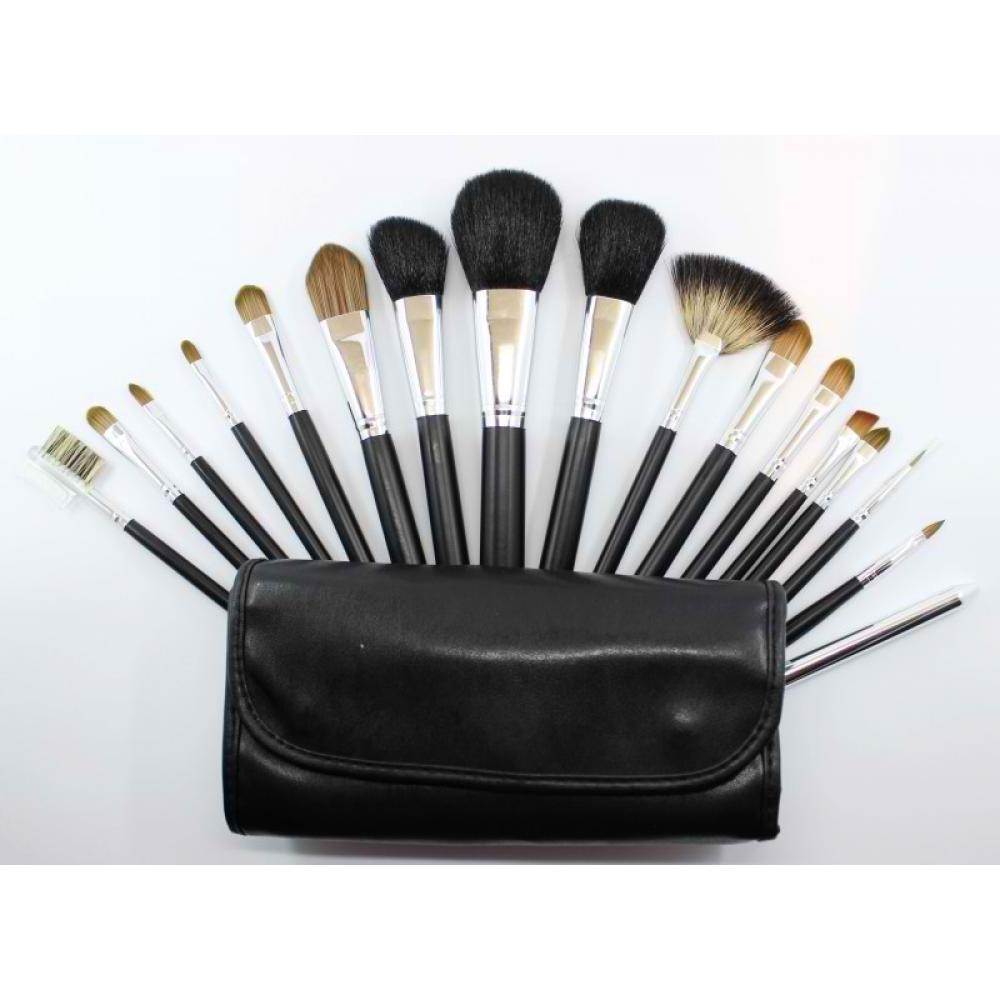 Купить Набор кистей для макияжа 16 шт - Make Up Me SL-16 Черный