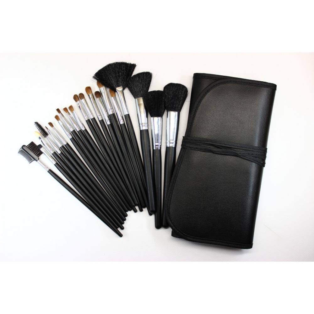 Купить Набор кистей для макияжа 20 шт - Make Up Me YB-20 Черный