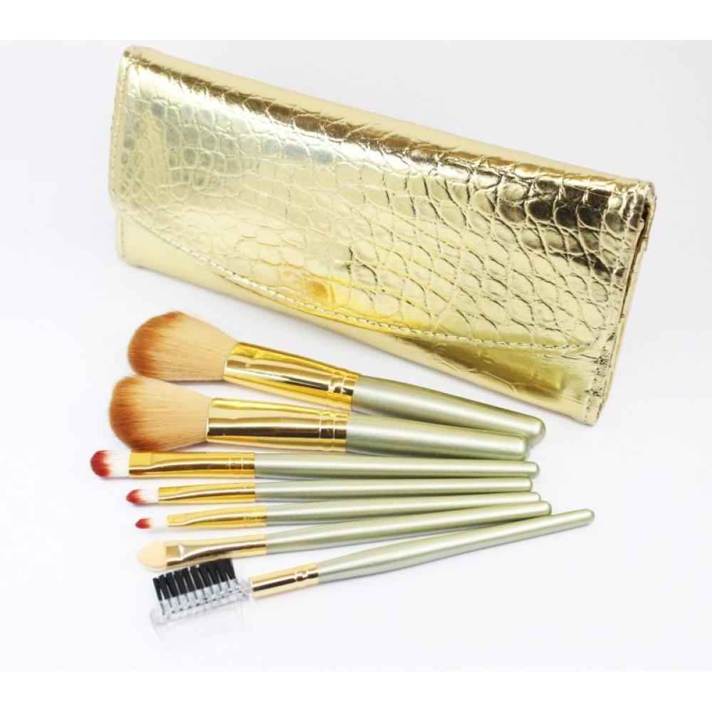 Купить Набор кистей для макияжа 7 шт - Make Up Me GD-7 Золотая Кожа