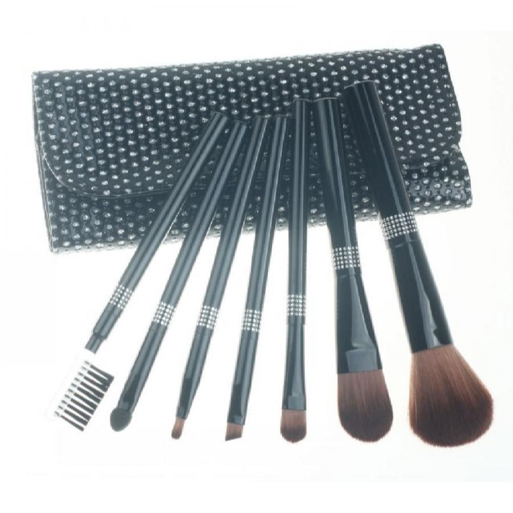 Купить Набор кистей для макияжа 7 шт - Make Up Me BL-GL-7 Черные Камни