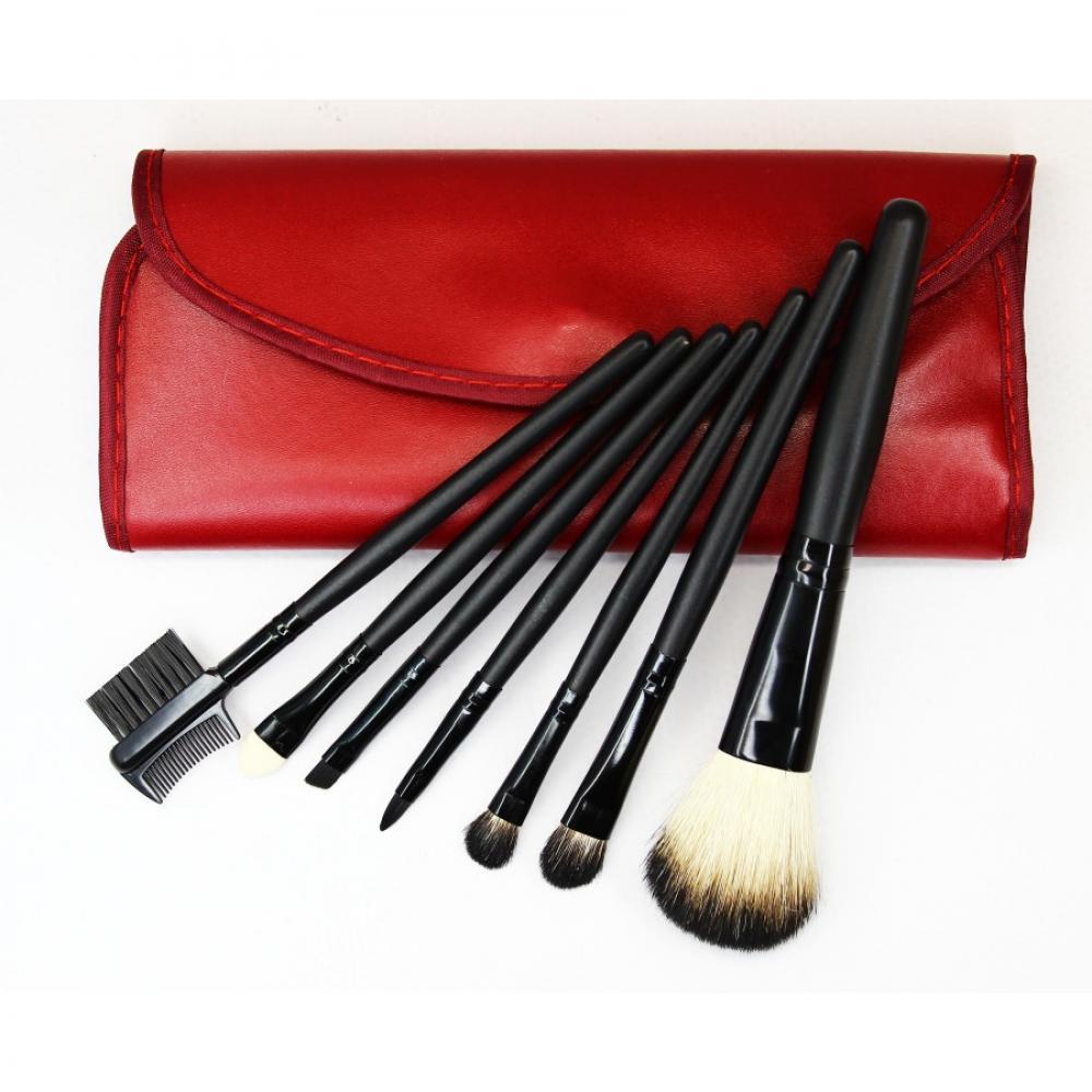 Купить Набор кистей для макияжа 7 шт - Make Up Me B-7 Красный