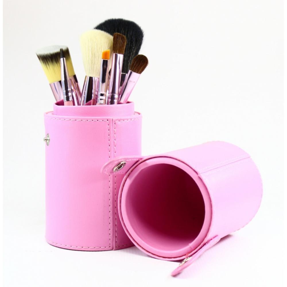 Купить Набор кистей для макияжа 7 шт - Make Up Me TUBE-7-PINK Розовый