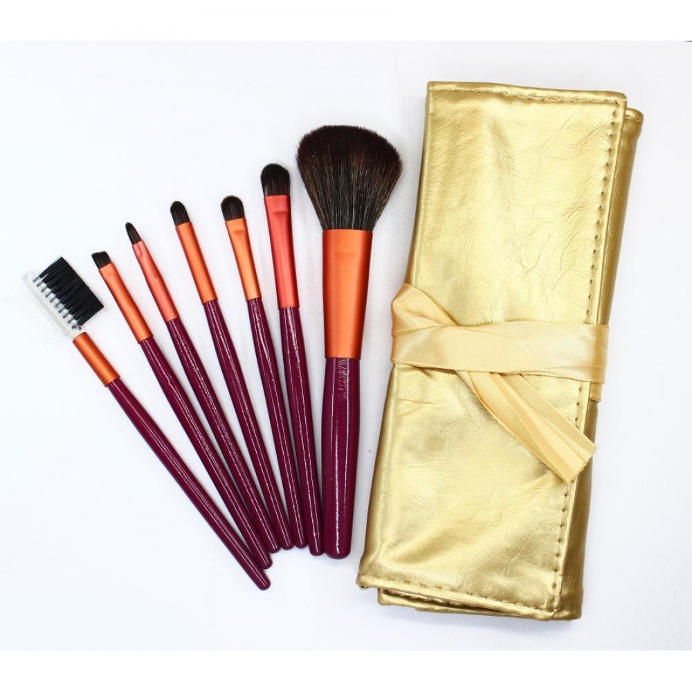 Купить Набор кистей для макияжа 7 шт - Make Up Me GOLD-7 Золото