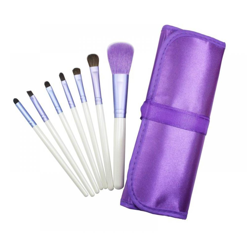 Купить Набор кистей для макияжа 7 шт - Make Up Me PURPLE-7 Фиолетовый