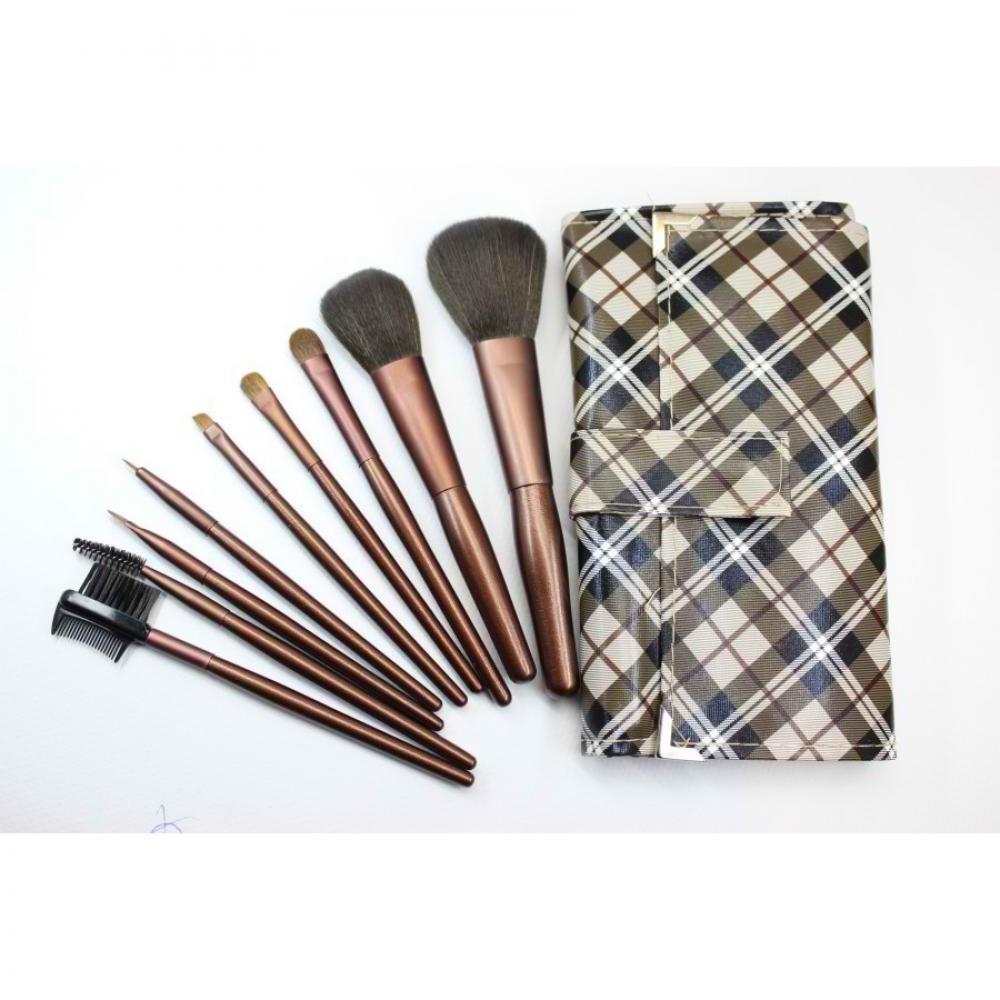 Купить Набор кистей для макияжа 9 шт - Make Up Me GB-9 Клетка