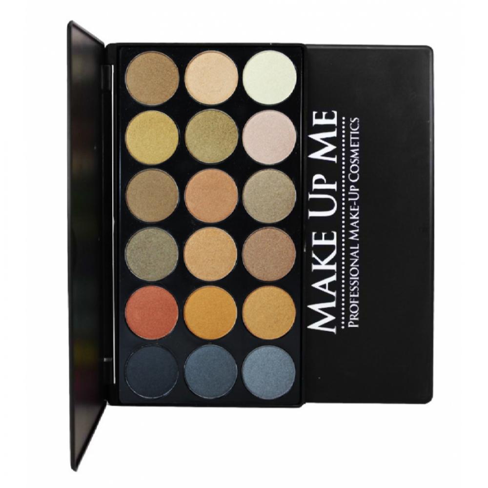 Купить Проф. палитра пастельных теней с блеском 18 цветов Make Up Me HC18
