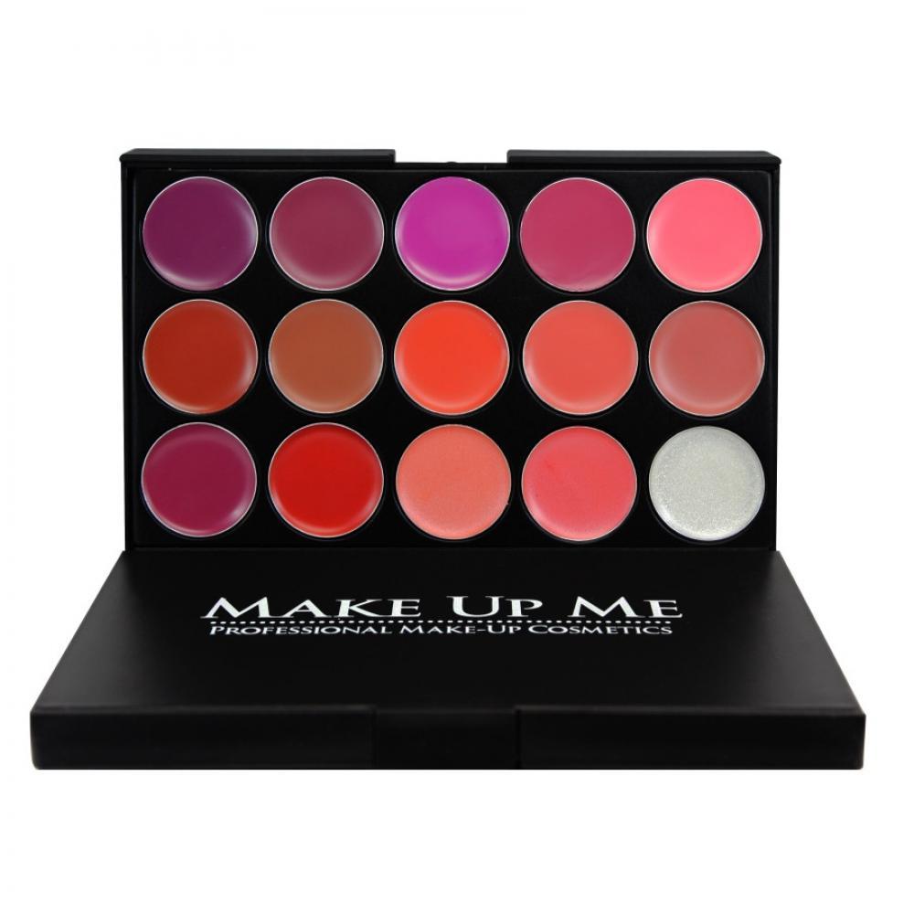 Купить Профессиональная палитра помад для губ 15 цветов Make Up Me L15-1