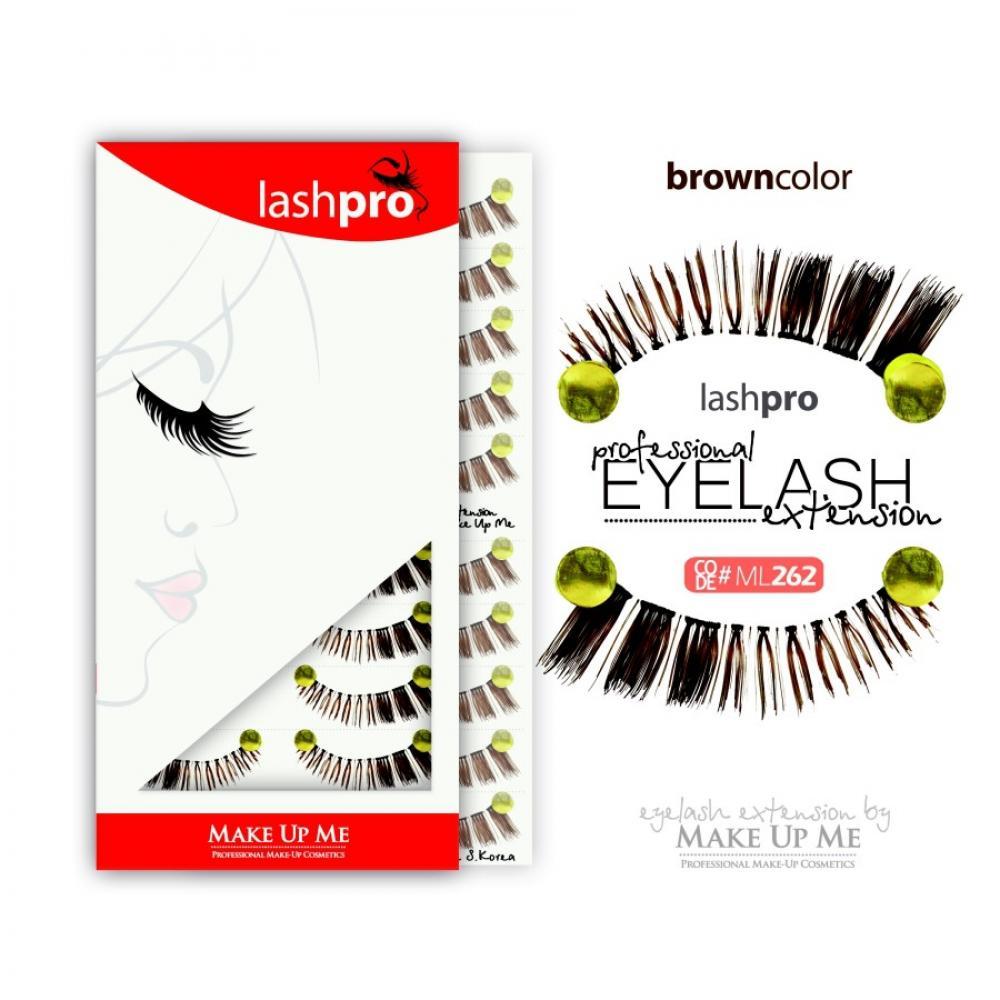 Купить Профессиональный набор коричневых ресниц 10 пар - Make Up Me LashPro ML262
