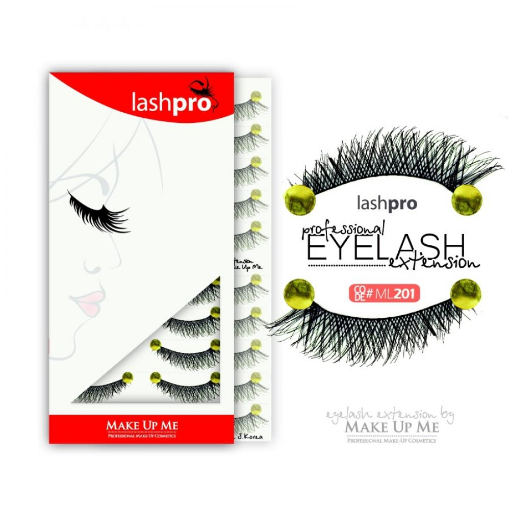 Купить Профессиональный набор ресниц 10 пар - Make Up Me LashPro ML201