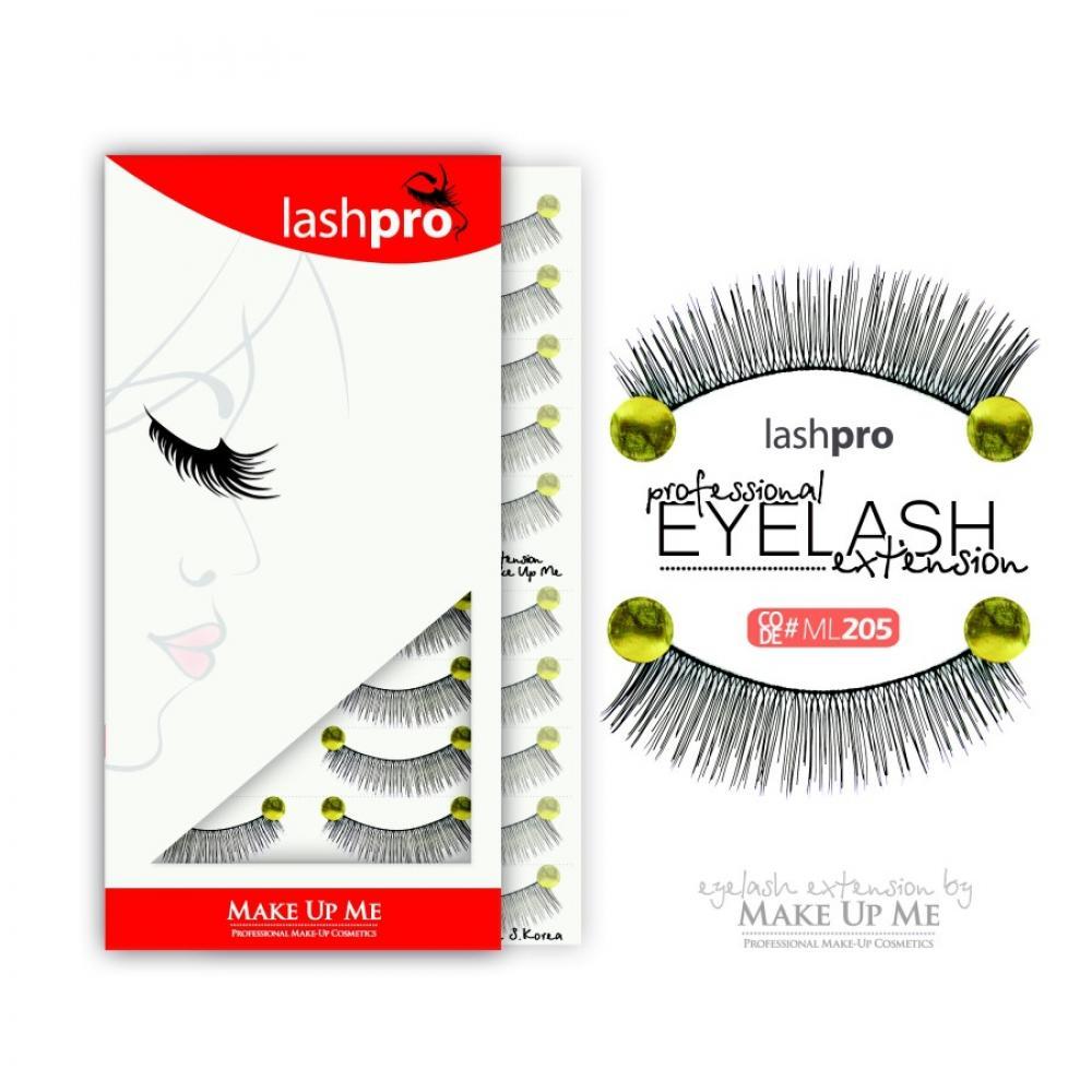 Купить Профессиональный набор ресниц 10 пар - Make Up Me LashPro ML205
