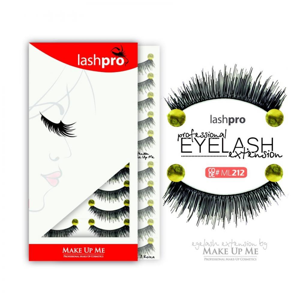 Купить Профессиональный набор ресниц 10 пар - Make Up Me LashPro ML212