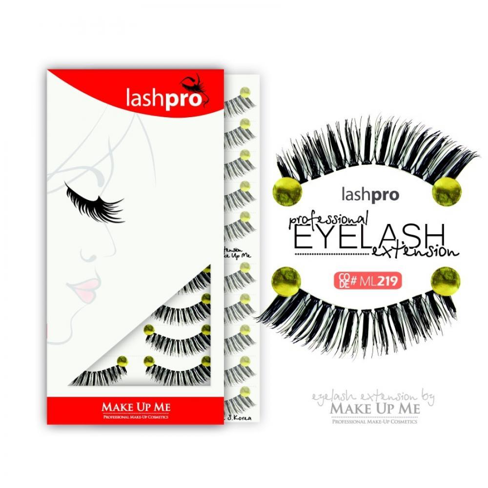 Купить Профессиональный набор ресниц 10 пар - Make Up Me LashPro ML219