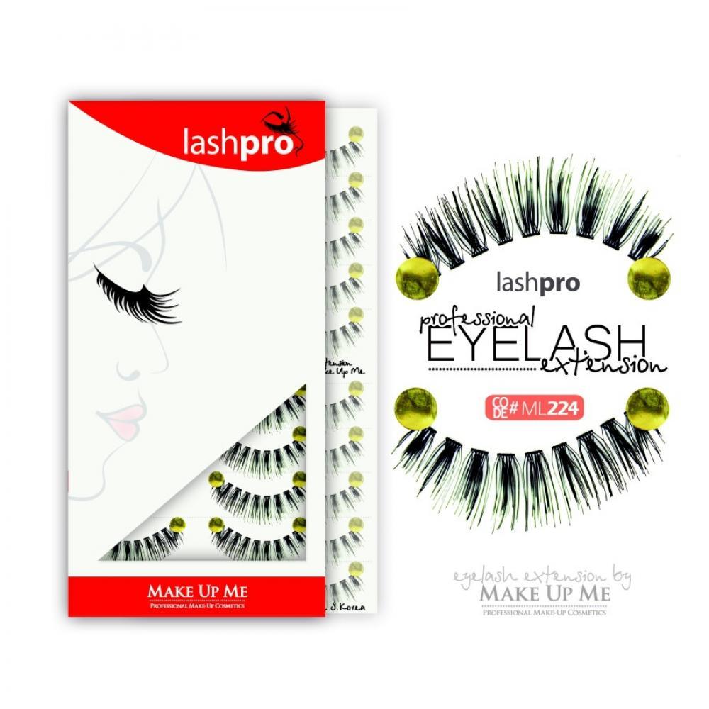 Купить Профессиональный набор ресниц 10 пар - Make Up Me LashPro ML224