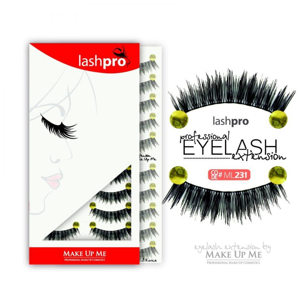 Купить Профессиональный набор ресниц 10 пар - Make Up Me LashPro ML231