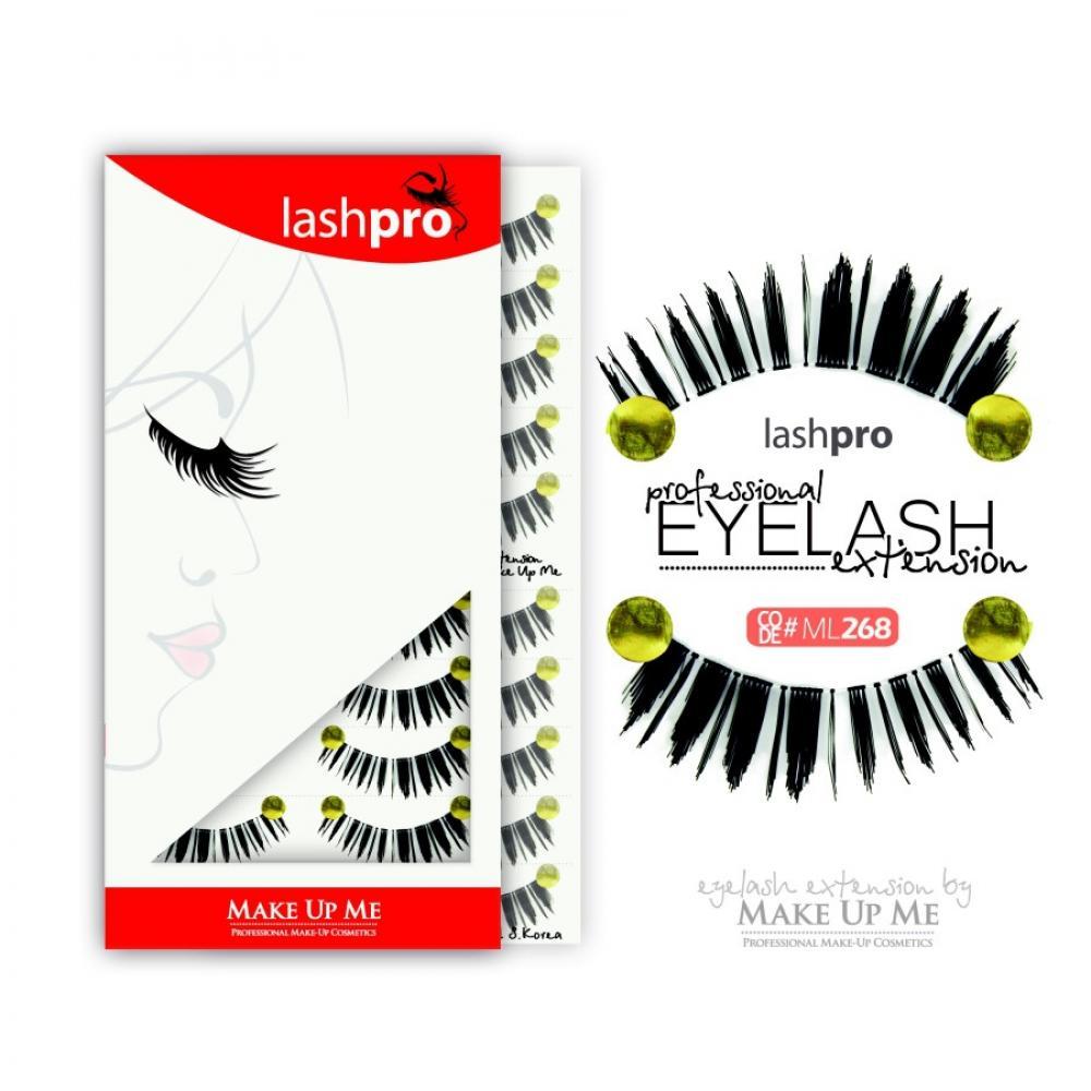 Купить Профессиональный набор ресниц 10 пар - Make Up Me LashPro ML268