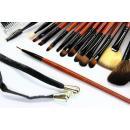 Купить Набор синтетических кистей для макияжа 18 шт - Make Up Me SB-18 Черный