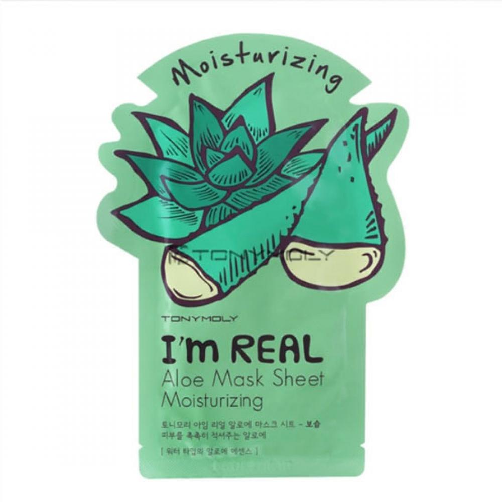 Купить Увлажняющая маска с экстрактом алоэ вера - Tony Moly I'm Real Aloe Mask Sheet