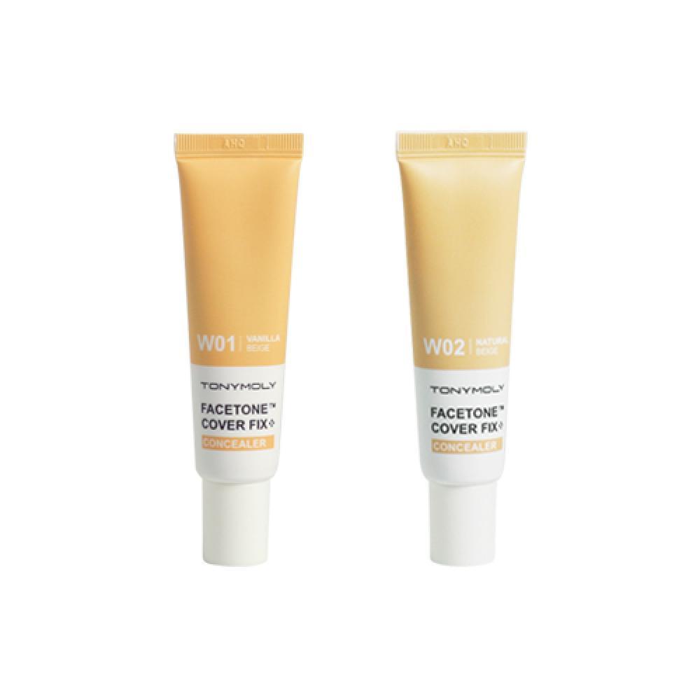 Купить Маскирующий консилер - Tony Moly Facetone Cover Fix Concealer W01 Vanilla Beige