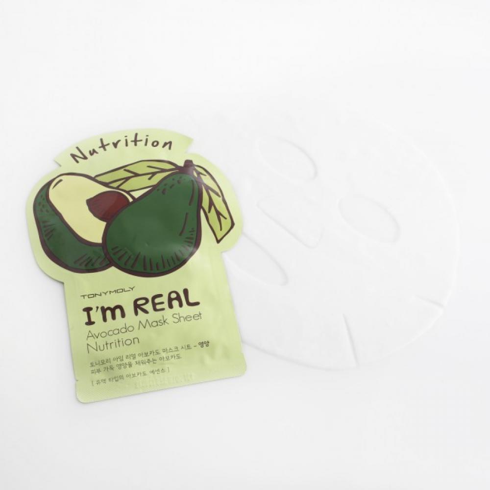 Купить Питательная маска с экстрактом авокадо - Tony Moly I'm Real Avocado Mask Sheet Nutrition